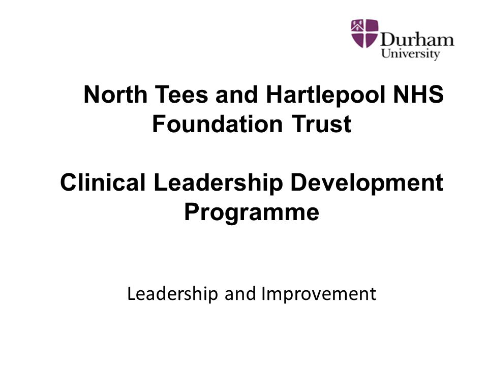 North Tees and Hartlepool NHS Foundation Trust Clinical