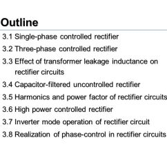 3 Phase Converter Wiring Diagram Gy6 150cc Power Electronics Chapter Ac To Dc Converters Rectifiers Ppt Outline 1 Single Controlled Rectifier