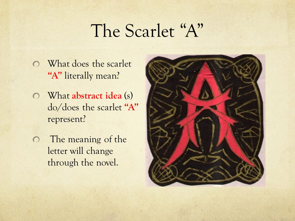 What is scarlet letter means Scarlet 20190131