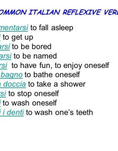 Common italian reflexive verbs also list of present tense idea gallery rh uerria witclubfo