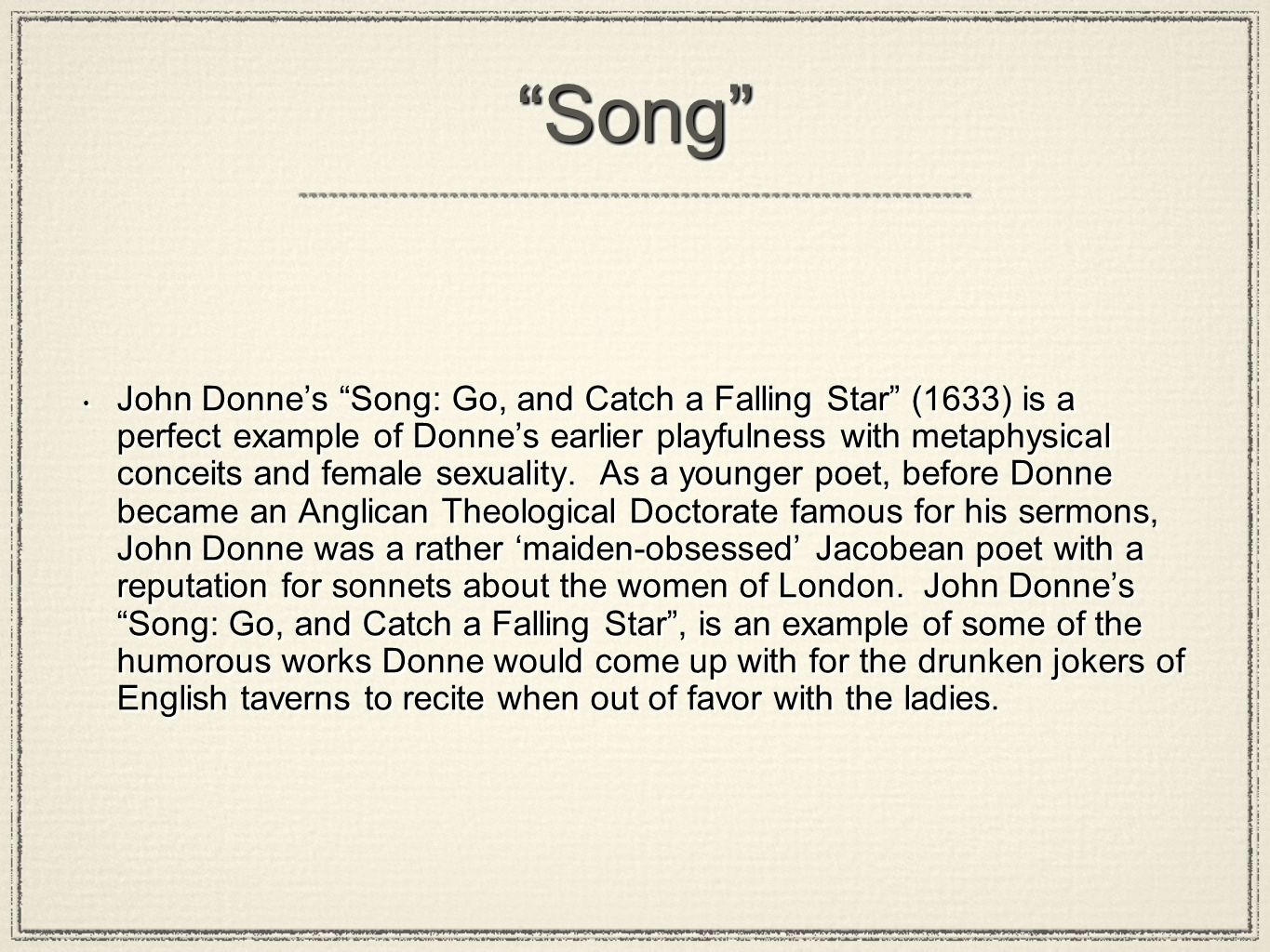 John Donne Poetry Ppt Video Online Download
