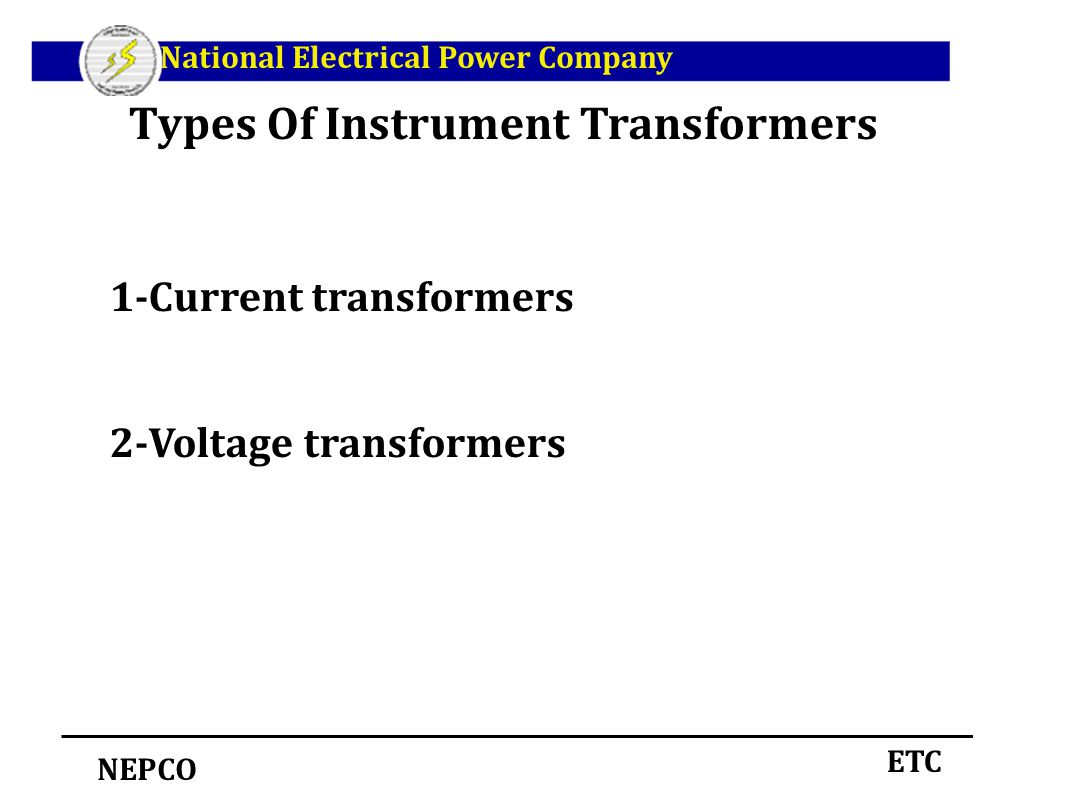 hight resolution of types of instrument transformers
