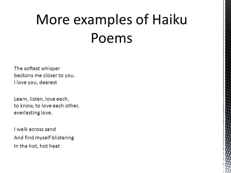 examples of haiku poems about love | creativepoem.co