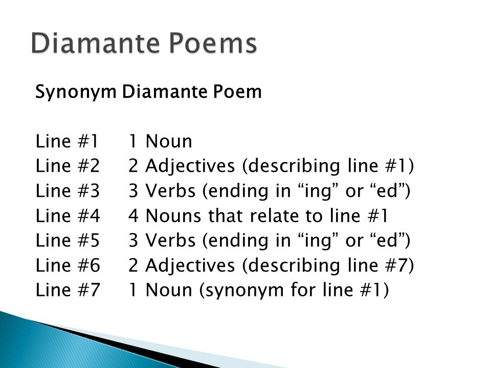Haiku Tanka Cinquain And Diamante Ppt Video Online