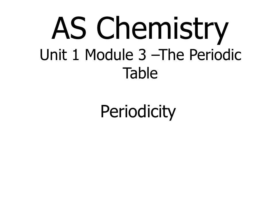 AS Chemistry Unit 1 Module 3