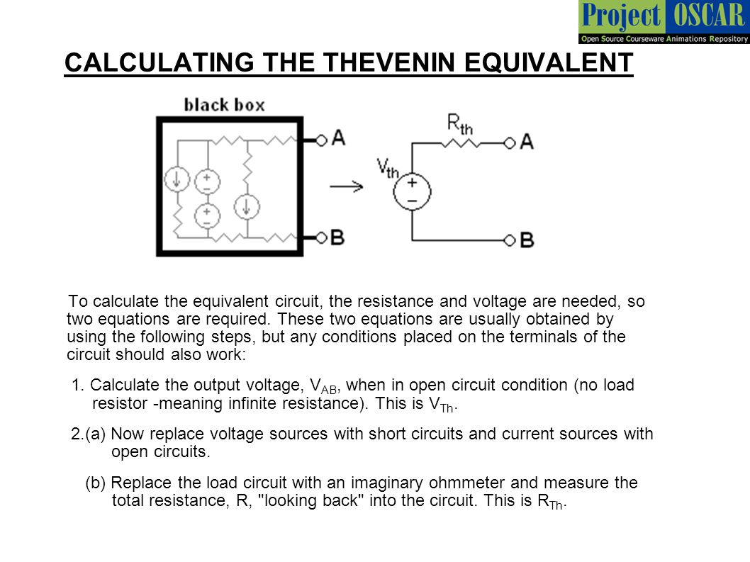 hight resolution of calculating the thevenin equivalent