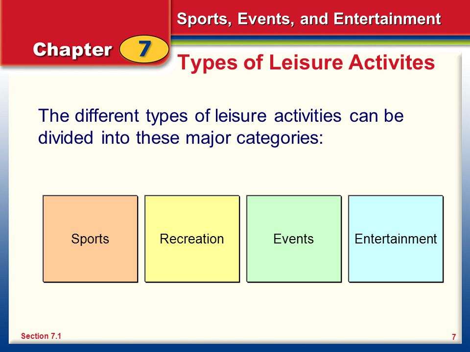 Types Recreational Events