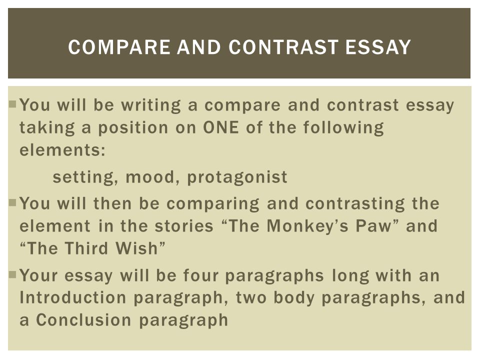Compare and Contrast Essay  ppt download