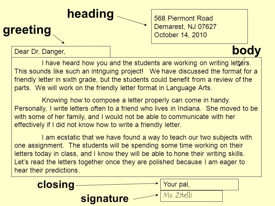 how do i write a friendly letter ppt online
