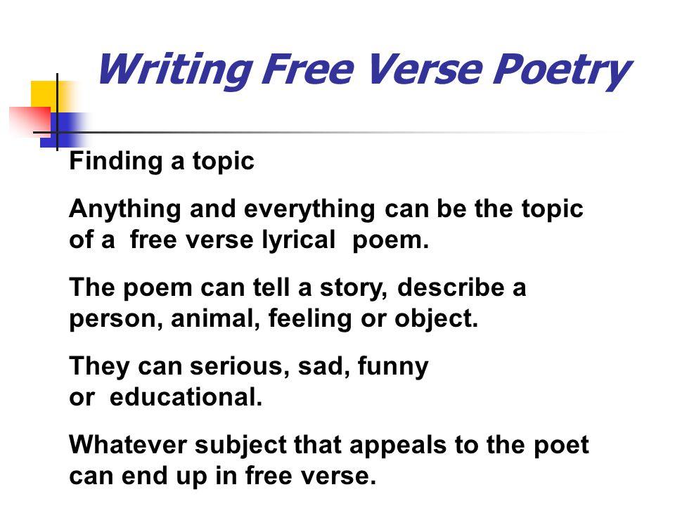Free Verse Poetry Mrs Vaughan Ppt Video Online Download