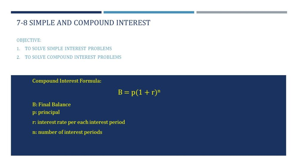 medium resolution of 7-8 simple and compound interest - ppt video online download