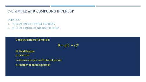 small resolution of 7-8 simple and compound interest - ppt video online download