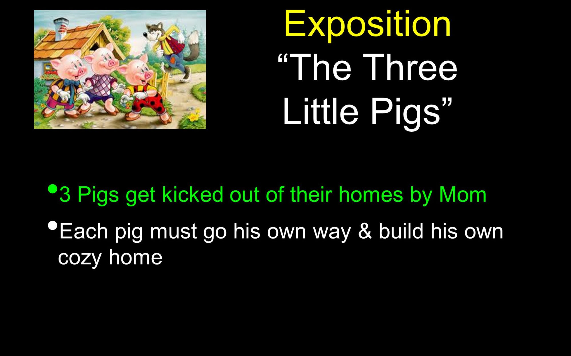hight resolution of 8 exposition the three little pigs