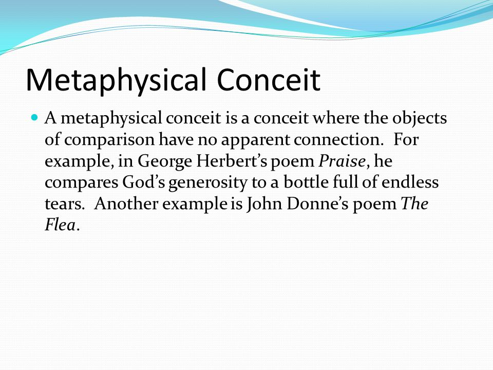 METAPHYSICAL POETRY Ppt Download