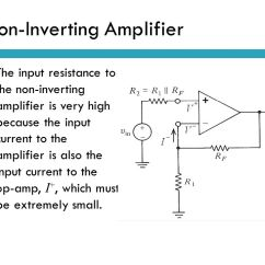 Circuit Diagram Of Non Inverting Amplifier Motor Wiring 12 Lead With High Input Impedance Content Op Amp Application Introduction Ppt