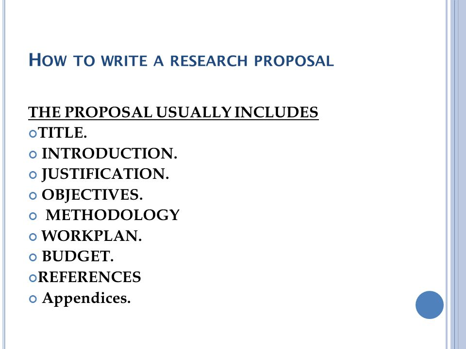How To Write A Research Proposal? Ppt Video Online Download