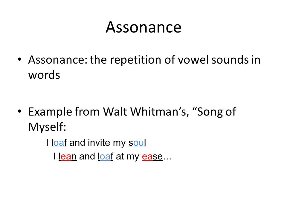 Alliteration Consonance And Assonance Ppt Video Online