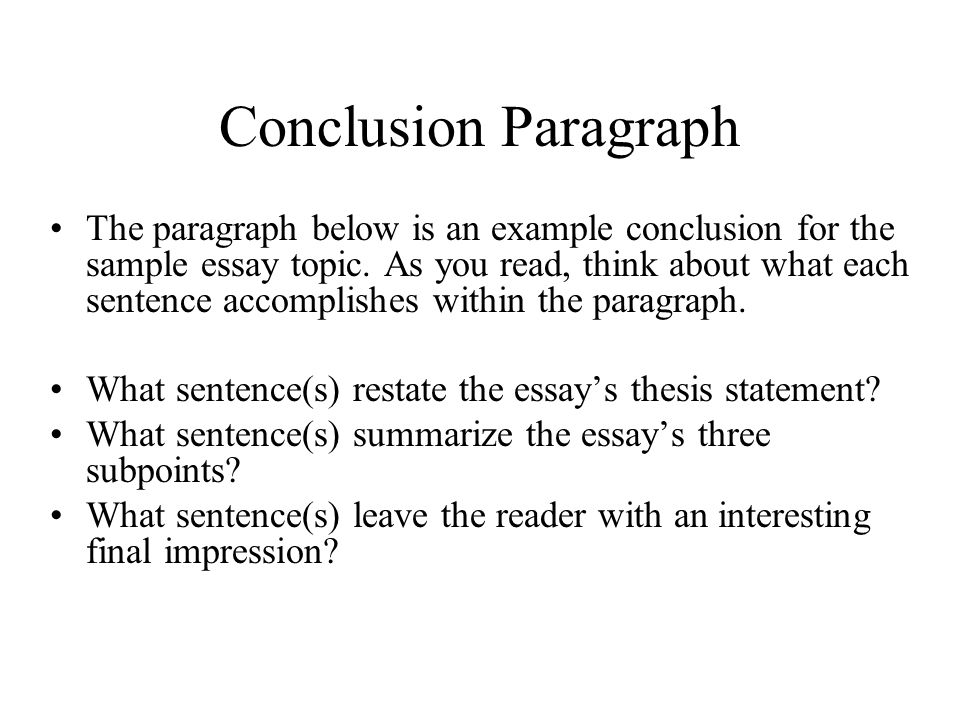 Introduction & Conclusion Paragraphs Ppt Video Online