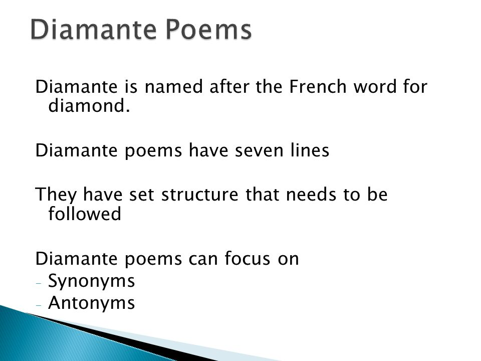 What Is A Diamante Poems 3
