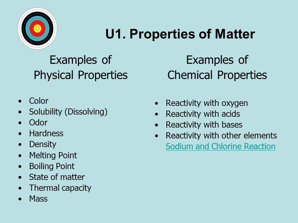 Topic 1 1 Matter & Change EI Physical And Chemical