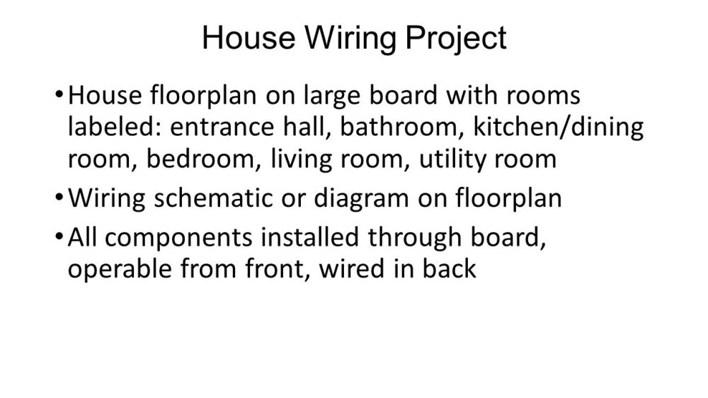 medium resolution of house wiring project
