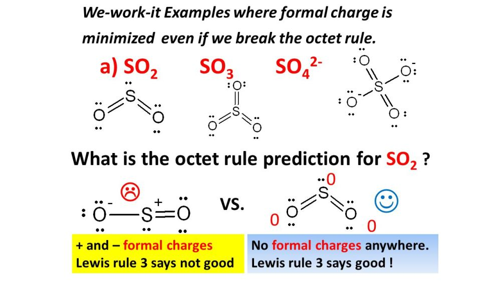 medium resolution of a so2 so3 so42 what is the octet rule prediction for so2