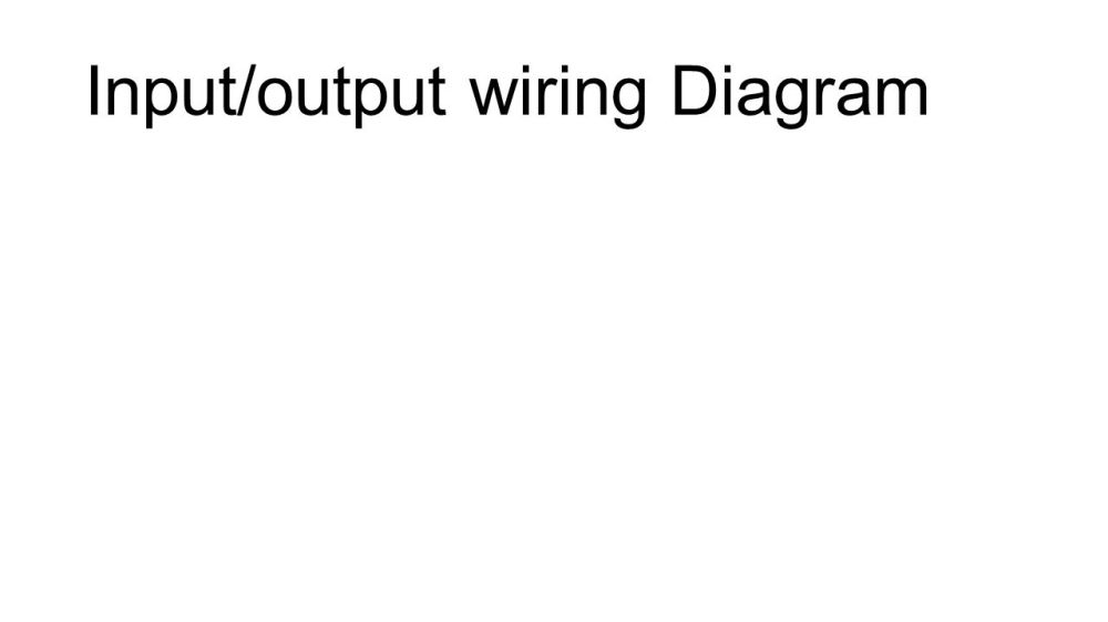 medium resolution of 1 input output wiring diagram