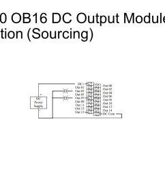 12 slc 500 ob16 dc output module connection sourcing  [ 1280 x 720 Pixel ]