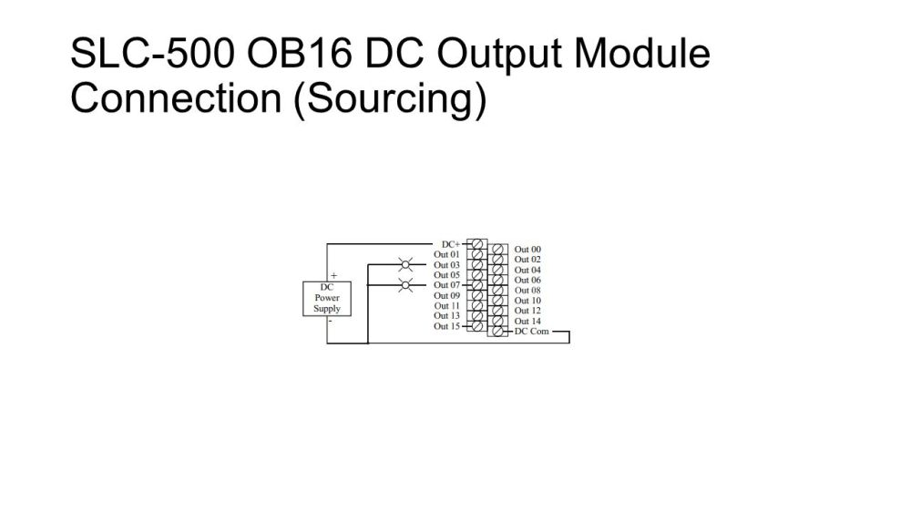 medium resolution of 12 slc 500 ob16 dc output module connection sourcing