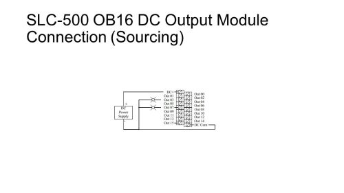 small resolution of 12 slc 500 ob16 dc output module connection sourcing