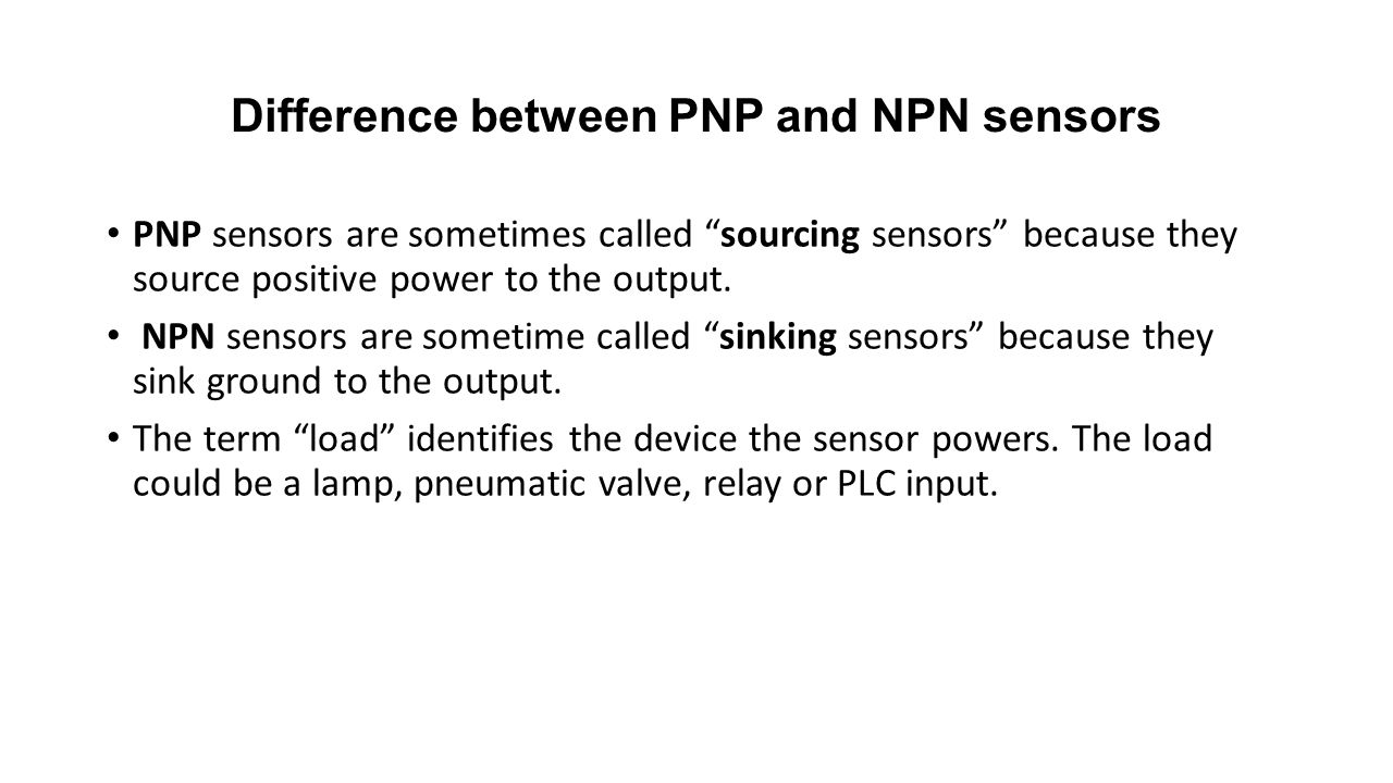 hight resolution of difference between pnp and npn sensors