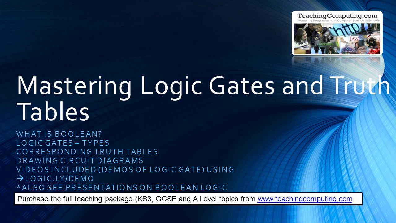 hight resolution of mastering logic gates and truth tables