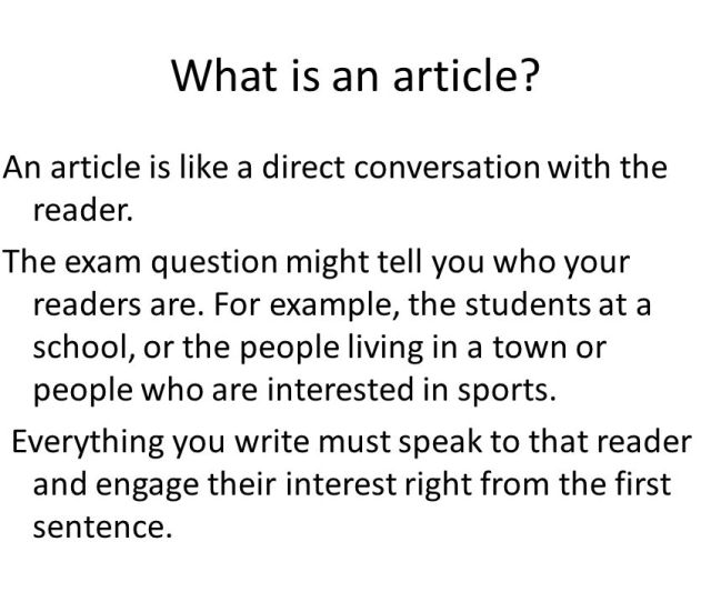 What Is An Article