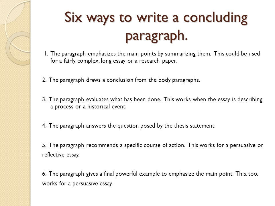How To Write A Conclusion To A Persuasive Essay Custom Paper Help