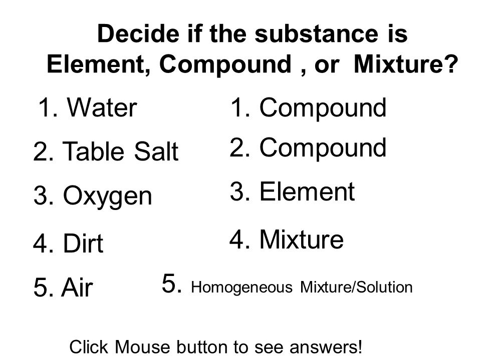 Is Table Salt A Heterogeneous Mixture Solution Compound Or