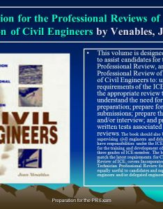Preparation for the pr exam also professional review examination in engineering rh slideplayer