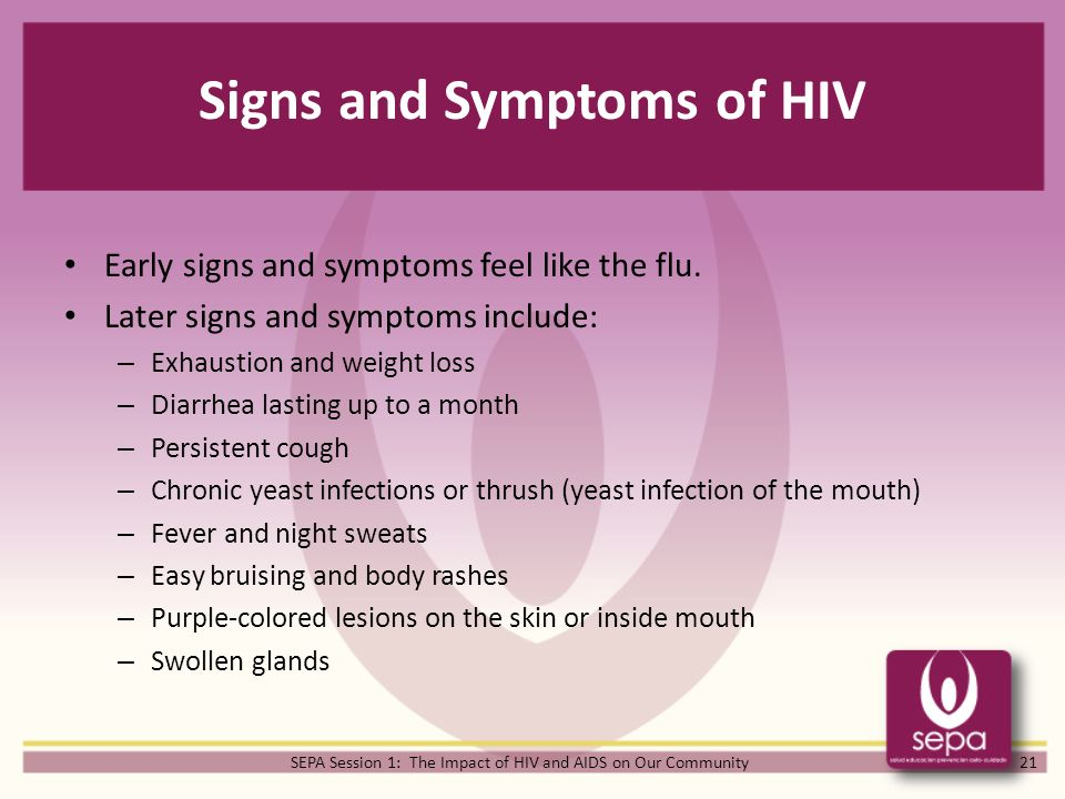 SEPA Sessions The Impact of HIV and AIDS on Our Community - ppt ...