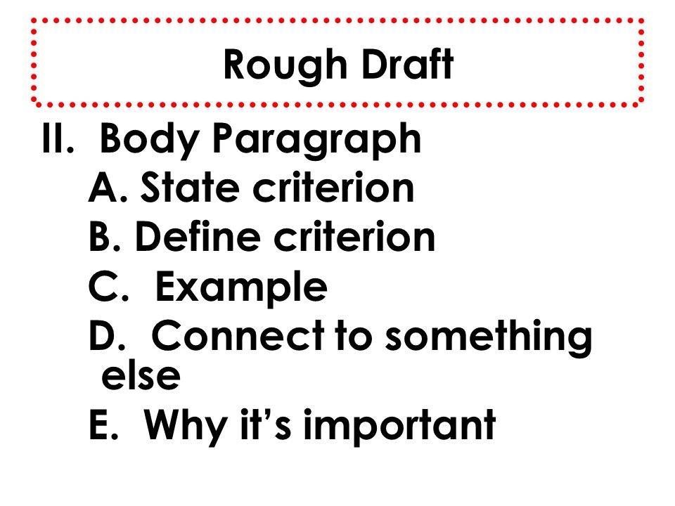 Example of a rough draft paragraph. Rough Draft free essay