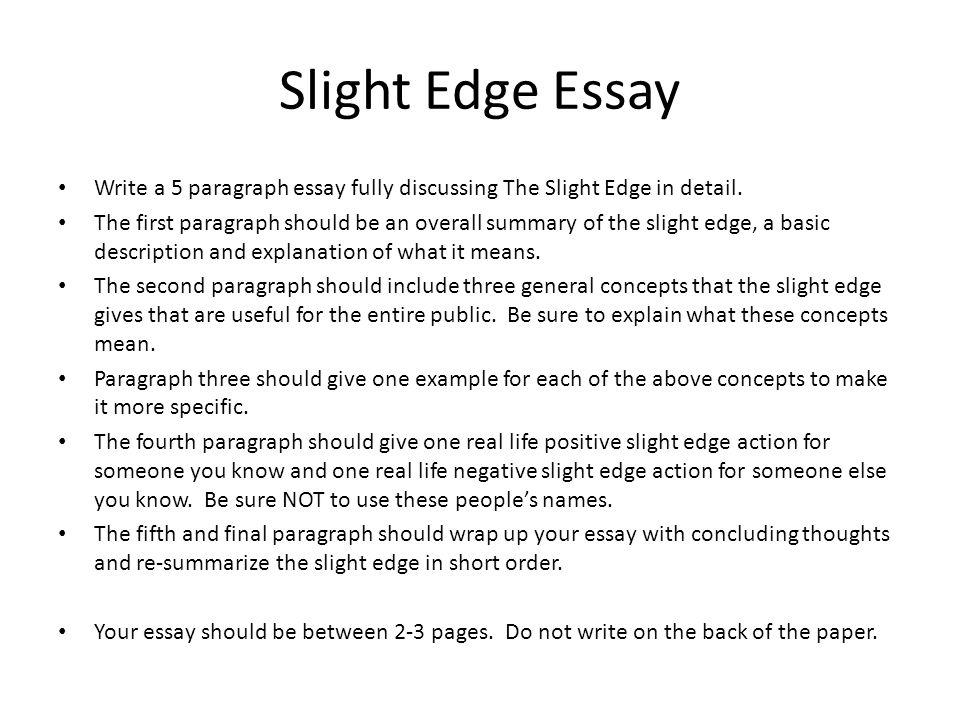 how to make a 5 paragraph essay