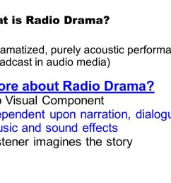 more about radio drama no visual component [ 1058 x 793 Pixel ]