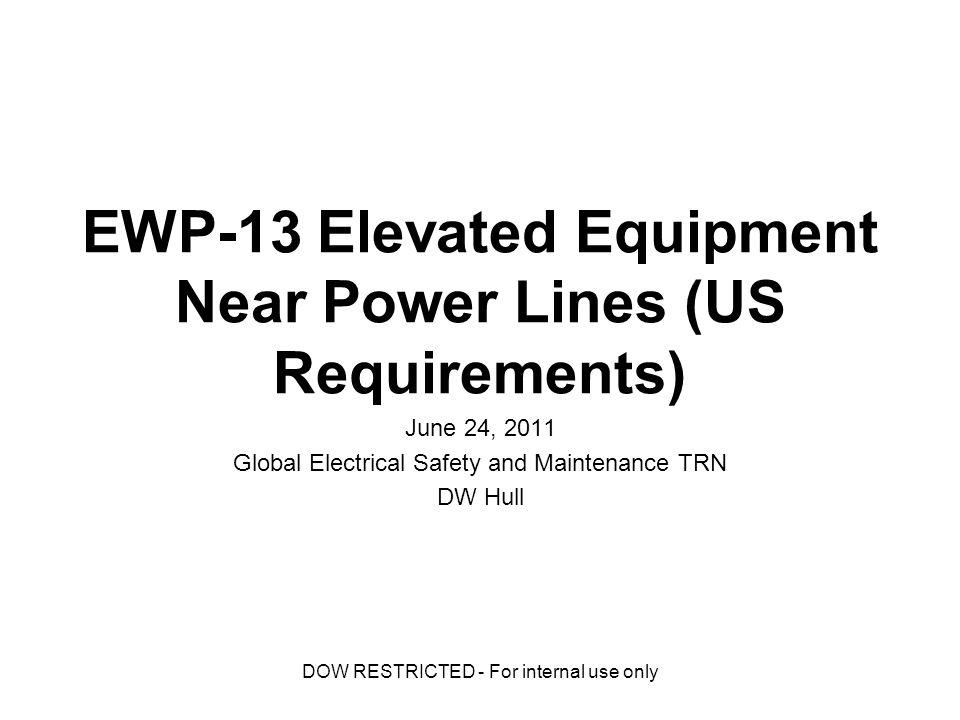 EWP-13 Elevated Equipment Near Power Lines (US
