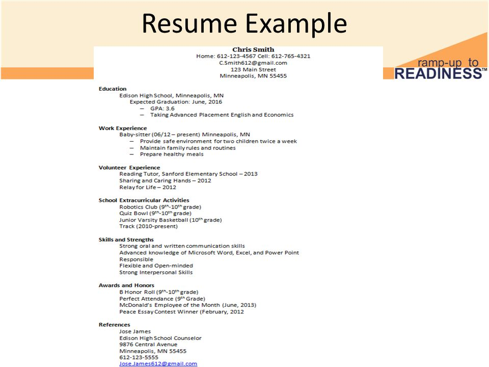 example of resume names