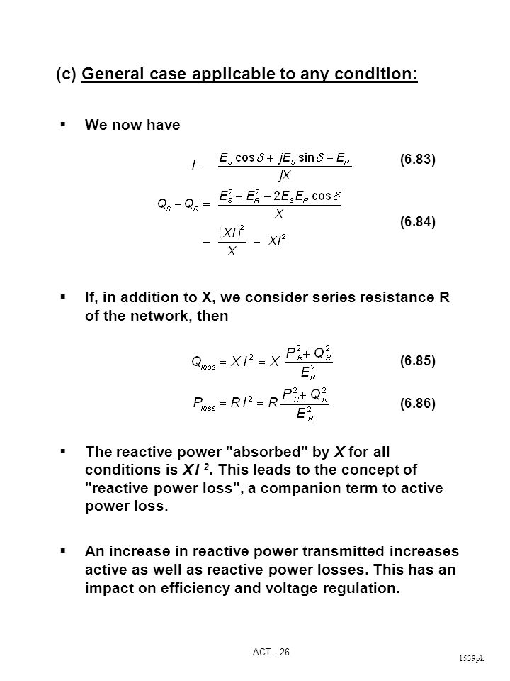 Reactive Power Equation : reactive, power, equation, Performance, Equations, Parameters, Transmission, Lines, Video, Online, Download