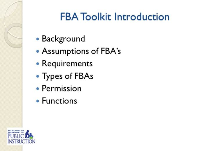 what is fba toolkit