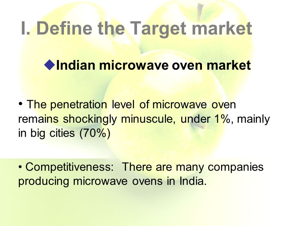 marketing microwave ovens to a new