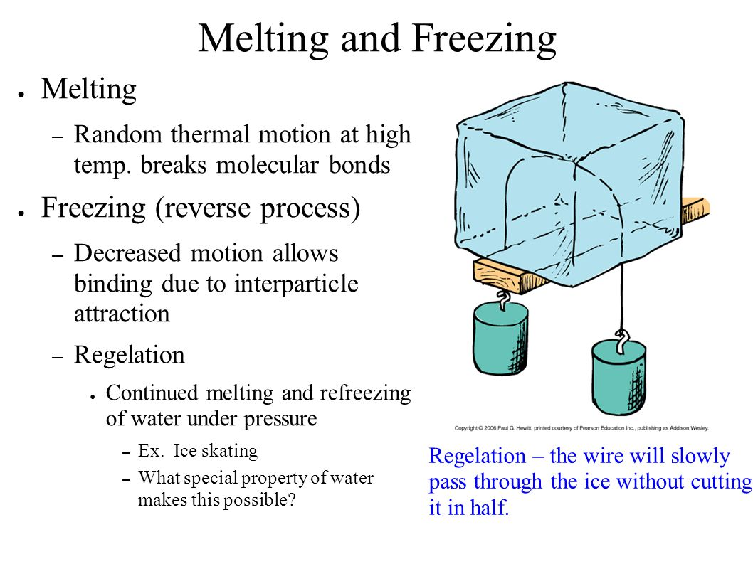 Melting And Freezing Worksheet
