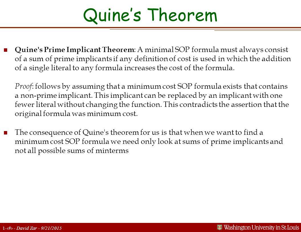 6 Quine's