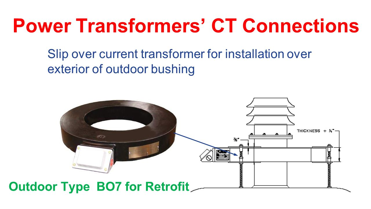 hight resolution of power transformers ct connections