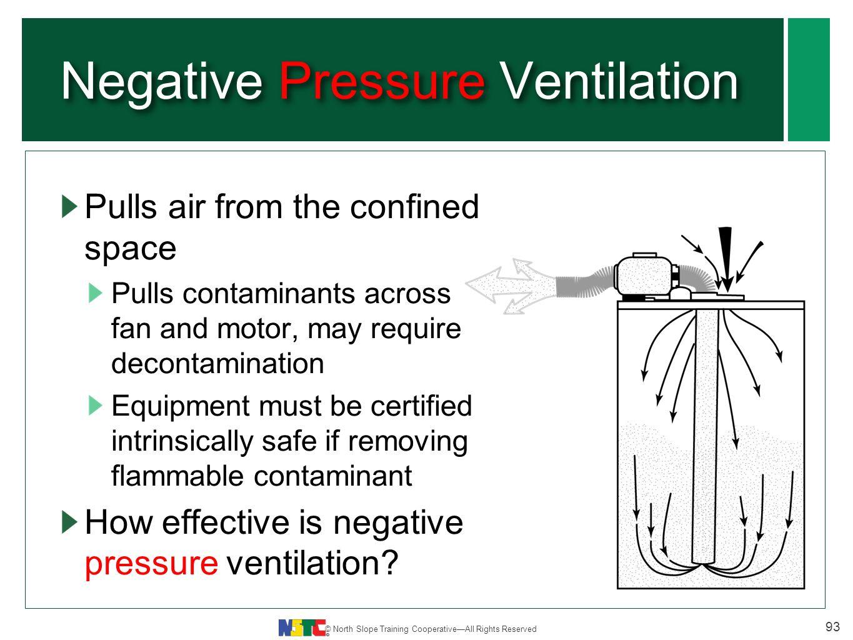 hight resolution of negative pressure ventilation