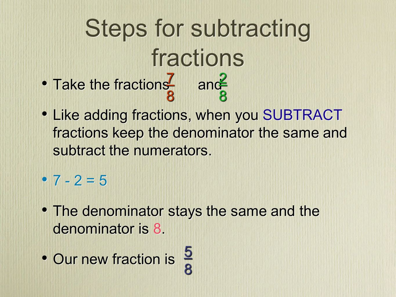 Fraction Fun Time I Can Add Or Subtract Proper Fractions And Mixed Numbers With Like